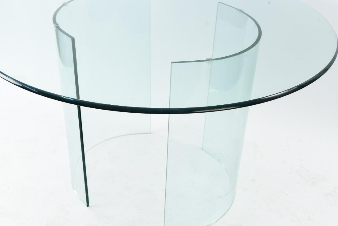 ALL GLASS ROUND TABLE - 6