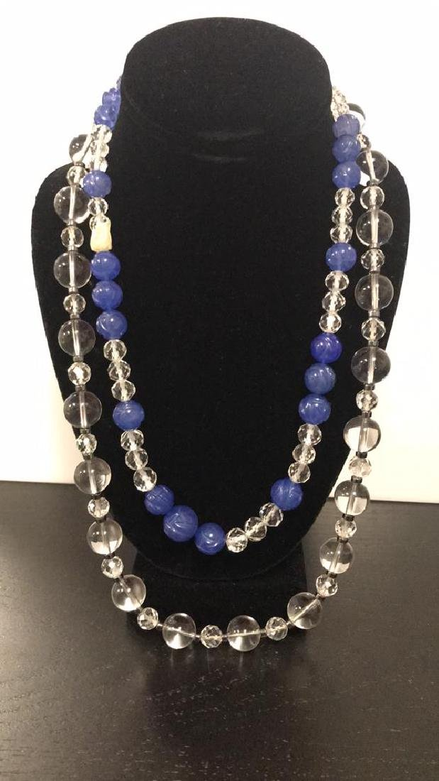 (2) NECKLACES INCLUDING CRYSTAL