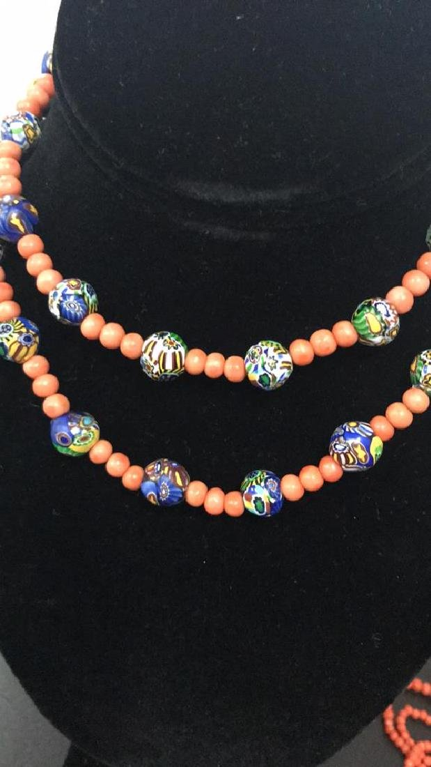 CORAL NECKLACE GROUPING - 4