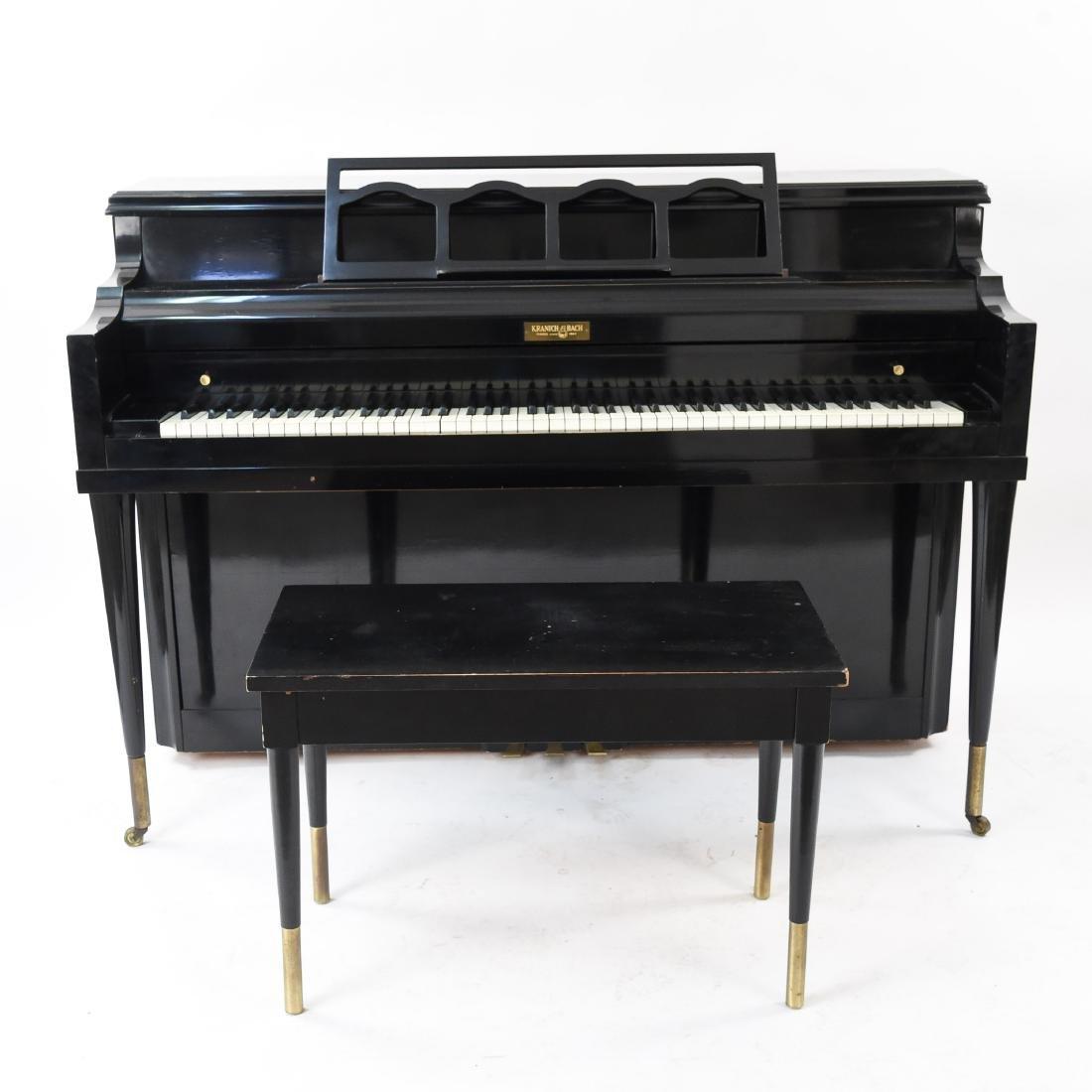 KRANICH BACH UPRIGHT PIANO W/ BENCH