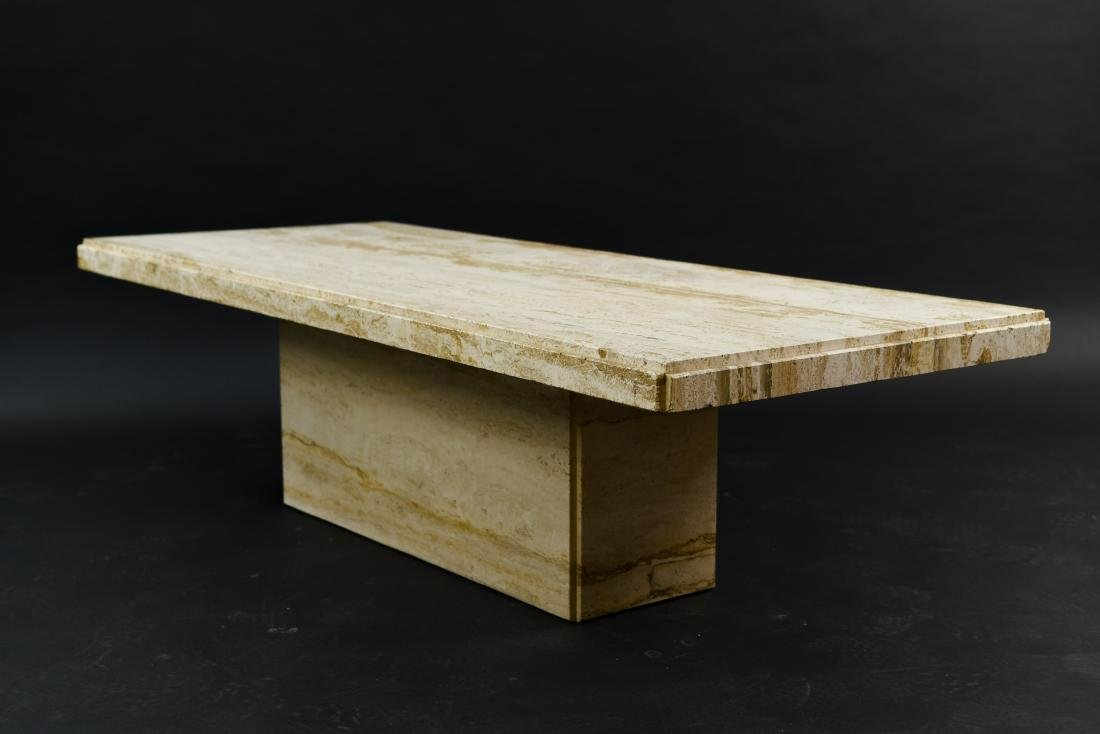 MID-CENTURY MODERN ITALIAN TRAVERTINE COFFEE TABLE