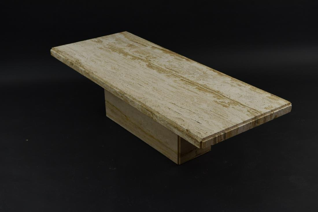 MID-CENTURY MODERN ITALIAN TRAVERTINE COFFEE TABLE - 5