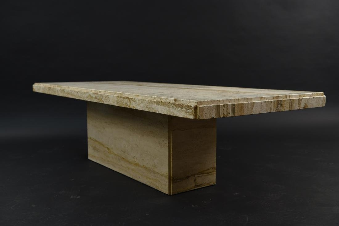 MID-CENTURY MODERN ITALIAN TRAVERTINE COFFEE TABLE - 6