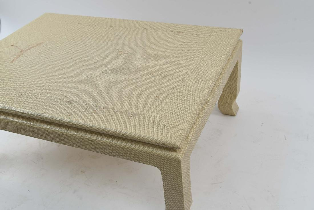 WOVEN CLOTH COVERED COFFEE TABLE - 7
