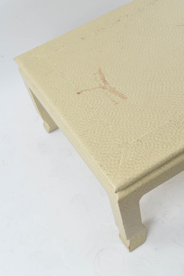 WOVEN CLOTH COVERED COFFEE TABLE - 8