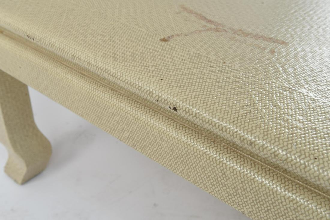 WOVEN CLOTH COVERED COFFEE TABLE - 9