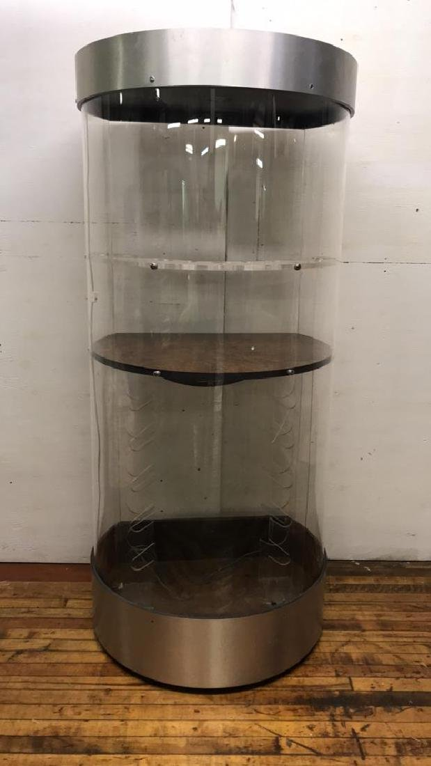 LUCITE CYLINDRICAL BAR CABINET - 2