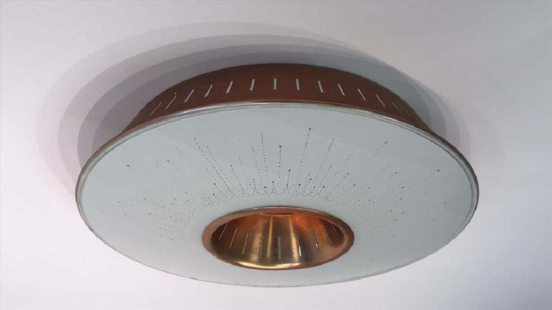 MID-CENTURY FLUSH MOUNT LIGHT FIXTURE