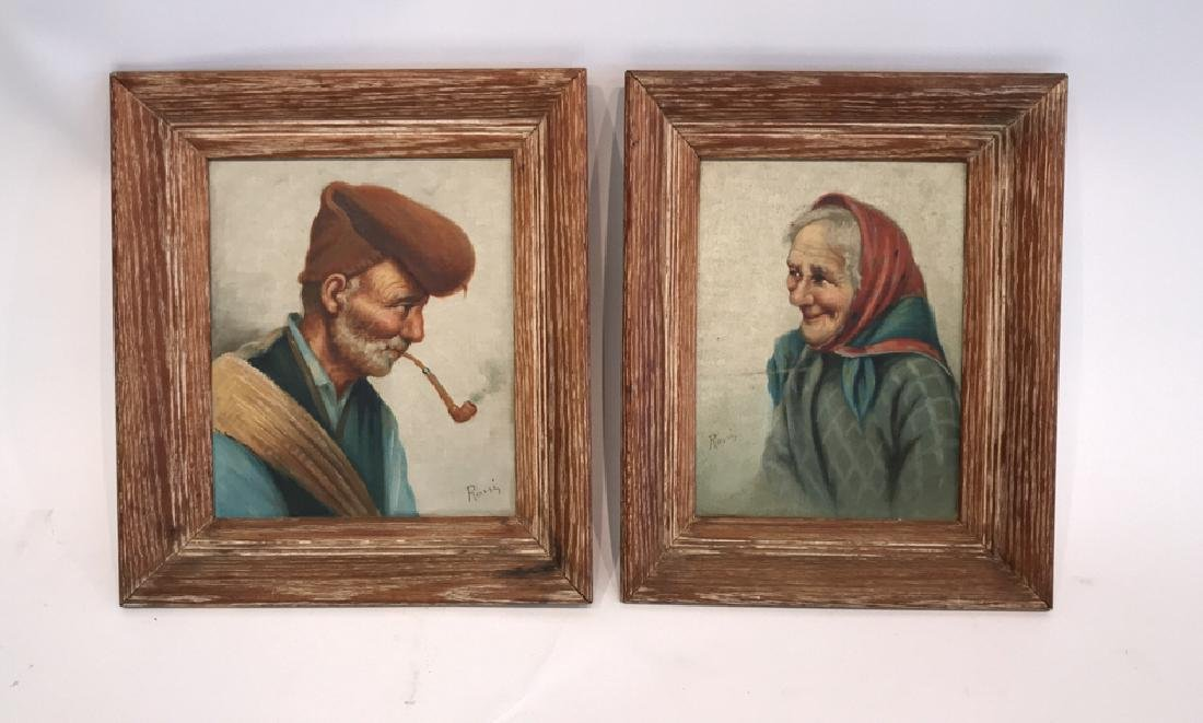 (2) ROSSI O/B PAINTINGS