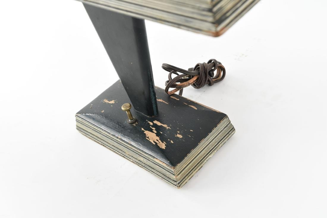 ART DECO WOODEN TABLE LAMP - 7