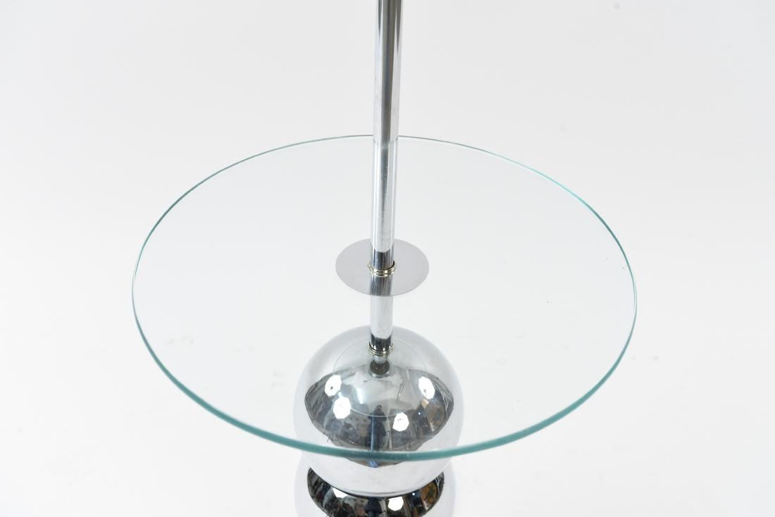STACKED CHROME BALL LAMP TABLE - 2