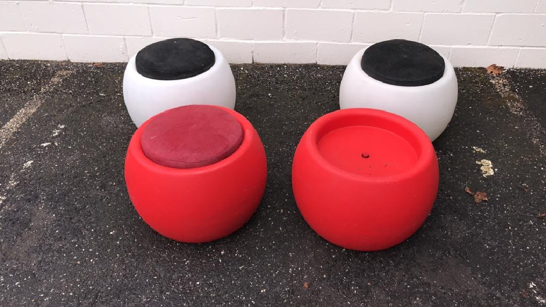 (4) ILLUMINATED PATIO STOOLS/TABLES - 2