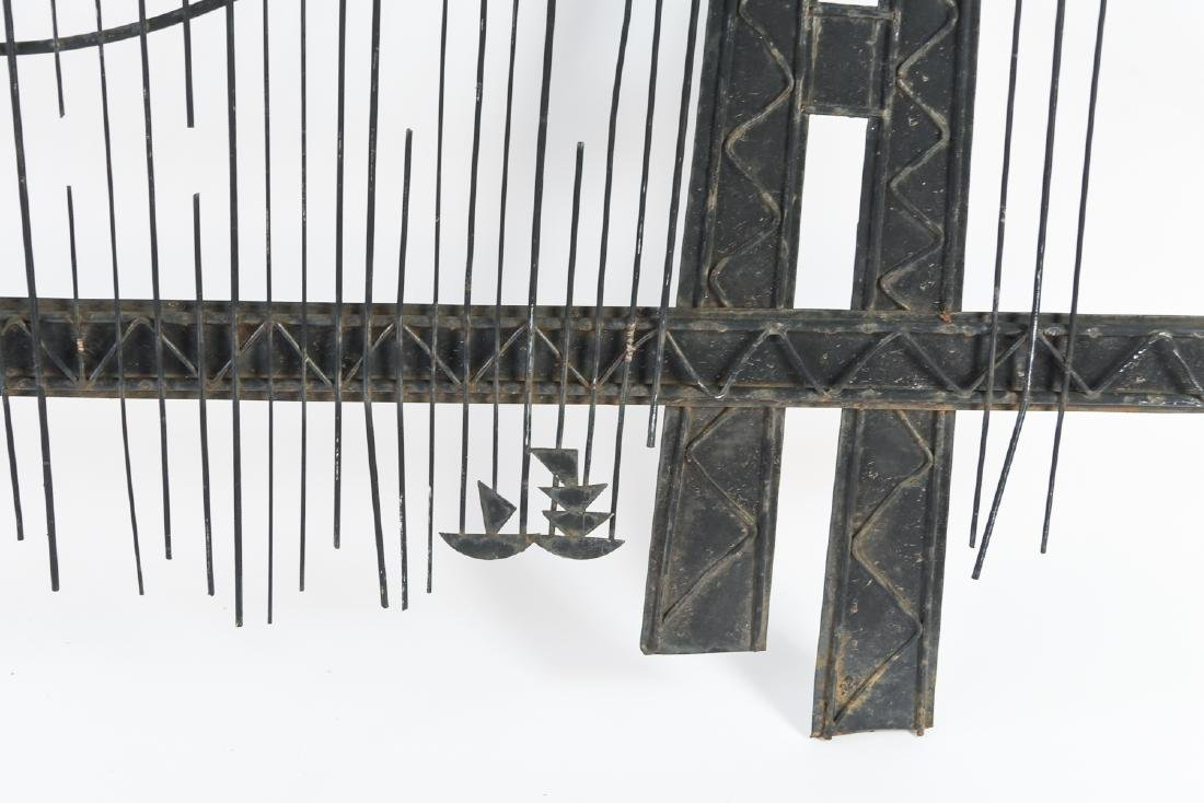 C. JERE MID-CENTURY METAL BRIDGE WALL SCULPTURE - 2
