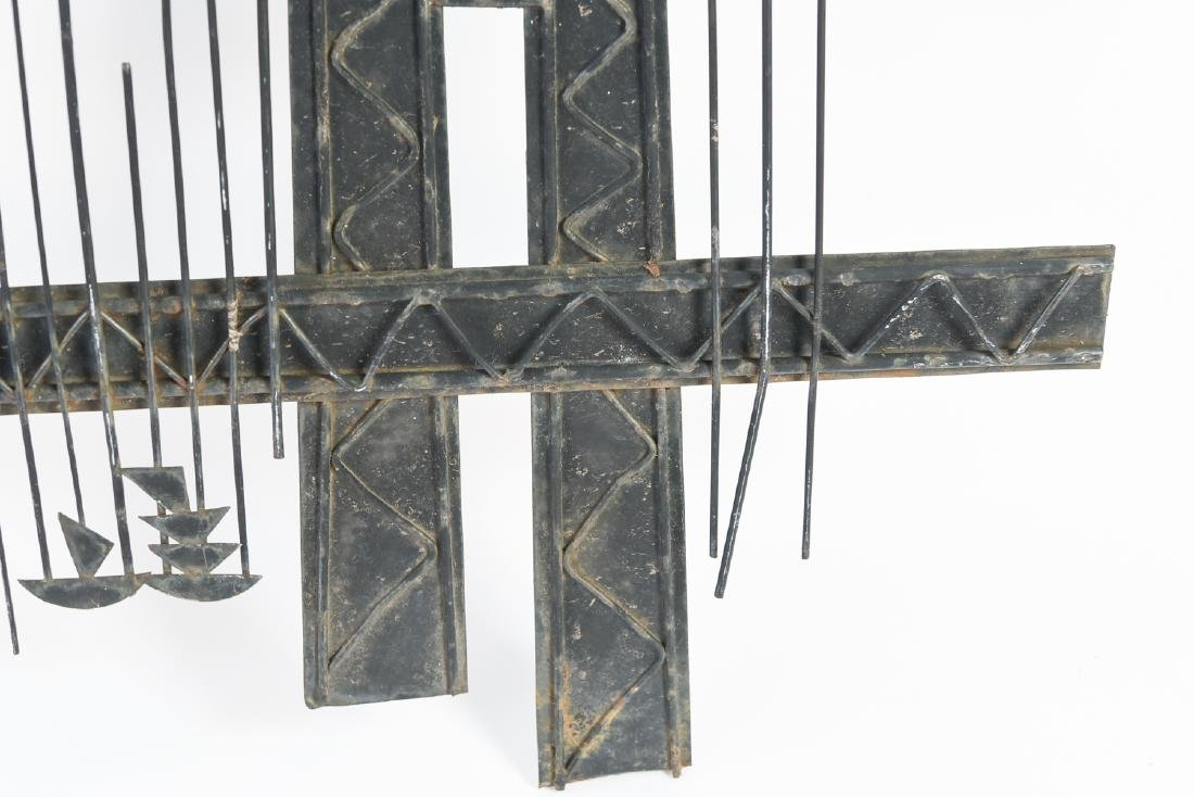 C. JERE MID-CENTURY METAL BRIDGE WALL SCULPTURE - 8