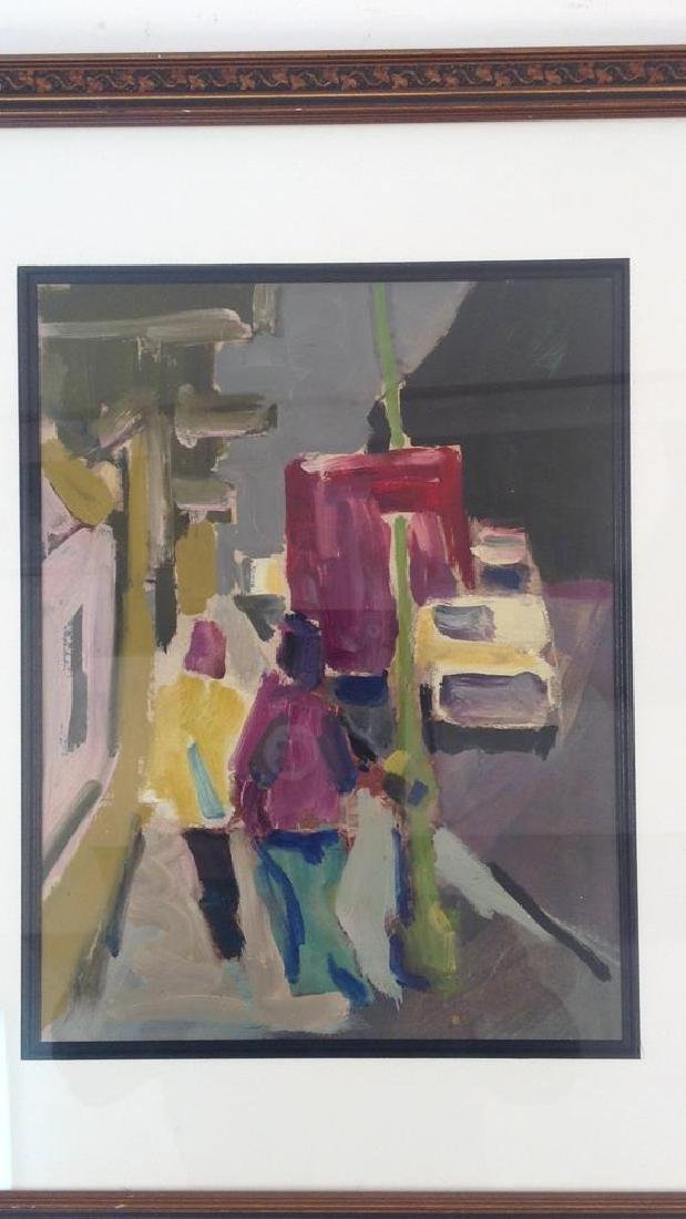 ABSTRACT FIGURATIVE STREET SCENE UNSIGNED - 2