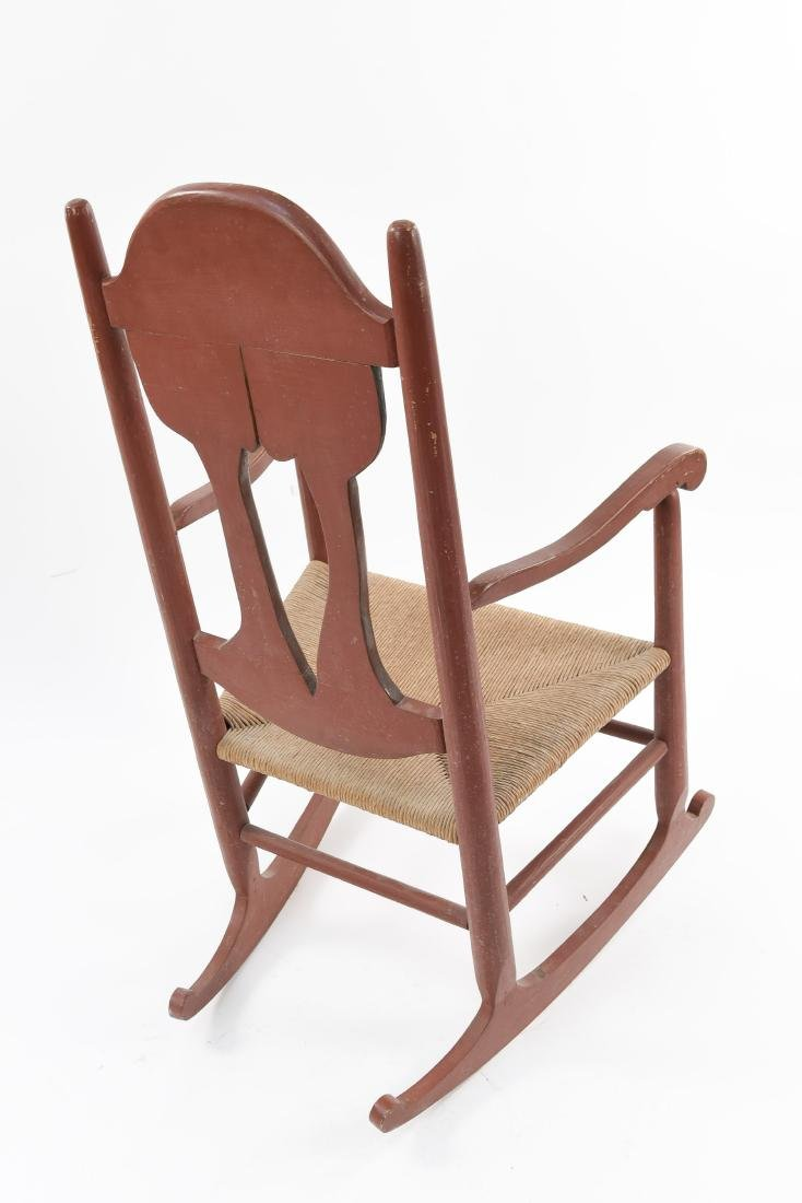 VINTAGE FOLK ART ARTIST CARVED ROCKER - 10
