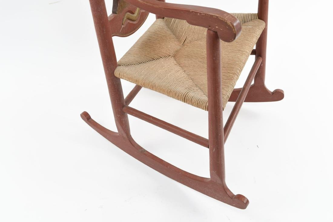 VINTAGE FOLK ART ARTIST CARVED ROCKER - 8