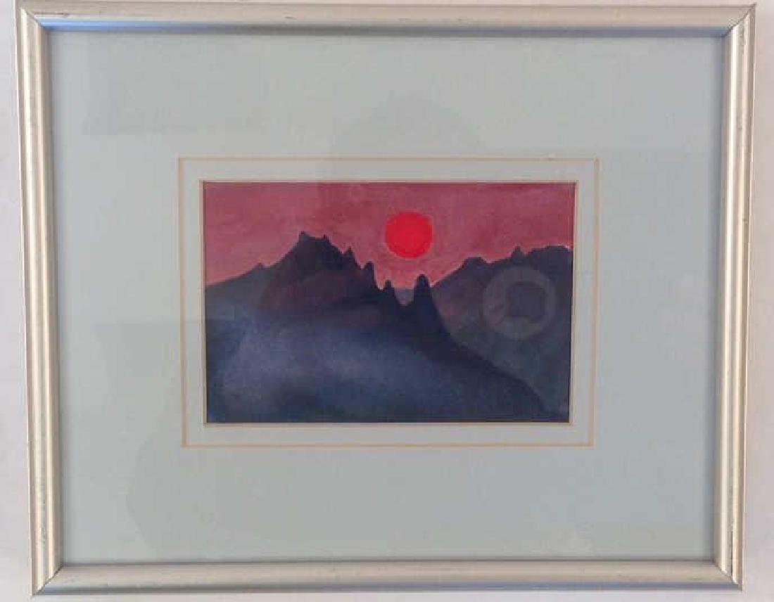 SIGNED MODERN WATERCOLOR