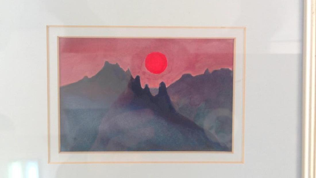 SIGNED MODERN WATERCOLOR - 2