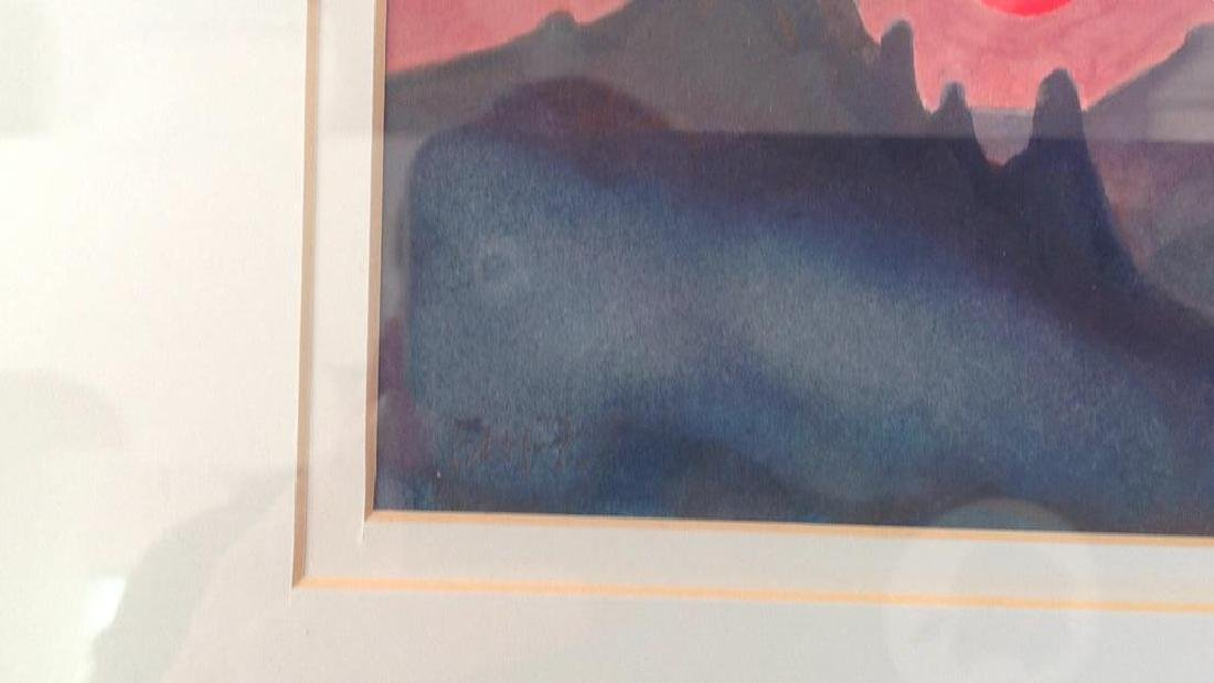 SIGNED MODERN WATERCOLOR - 3