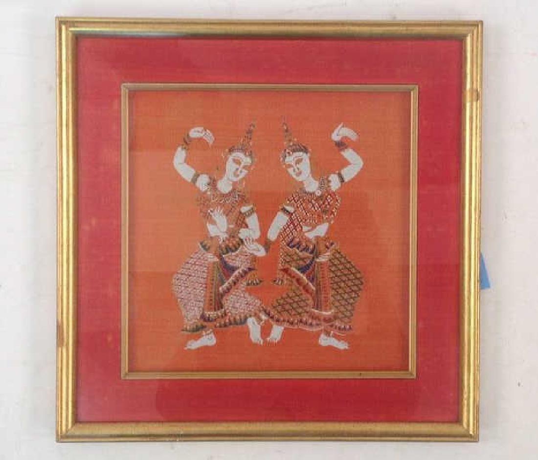 FRAMED THAI PRINT OF DANCERS