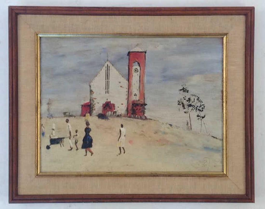 HAITIAN CHURCH PAINTING