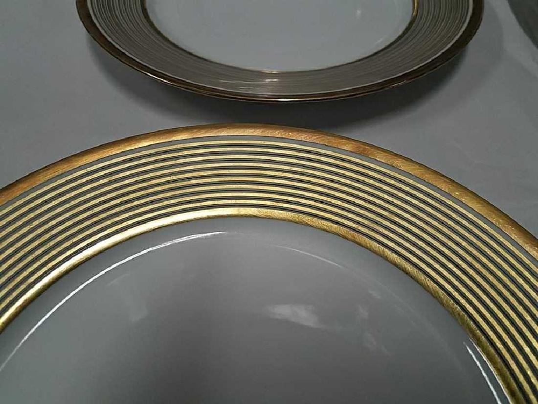(12) LIMOGES GOLD GILT PORCELAIN PLATES - 3