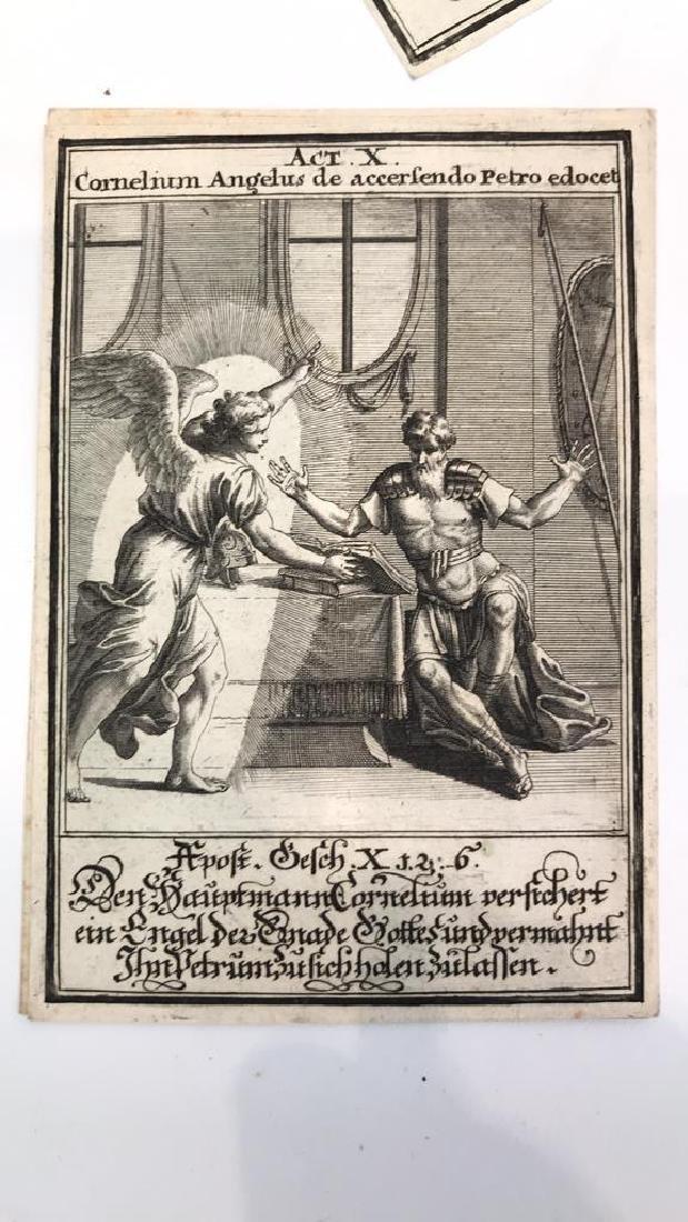 18TH C. GERMAN AND LATIN BIBLICAL ENGRAVINGS - 2