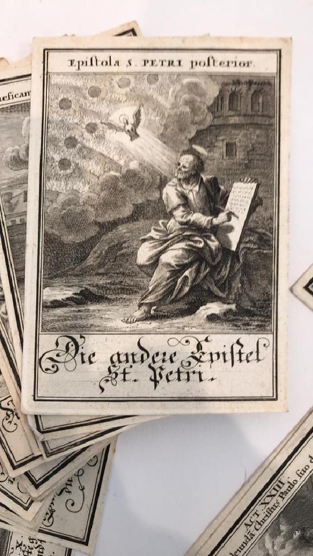 18TH C. GERMAN AND LATIN BIBLICAL ENGRAVINGS - 3