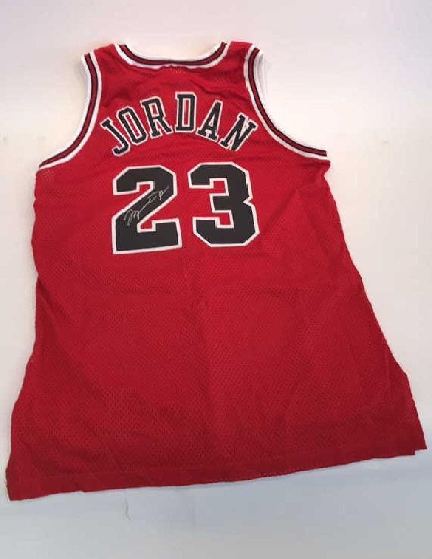 SIGNED MICHAEL JORDAN OFFICIAL DOUBLE TAG JERSEY