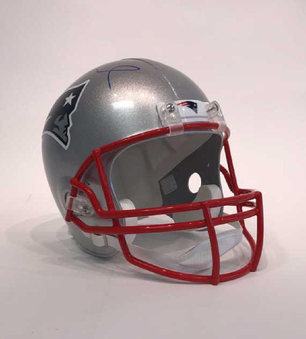 SIGNED TOM BRADY FOOTBALL HELMET
