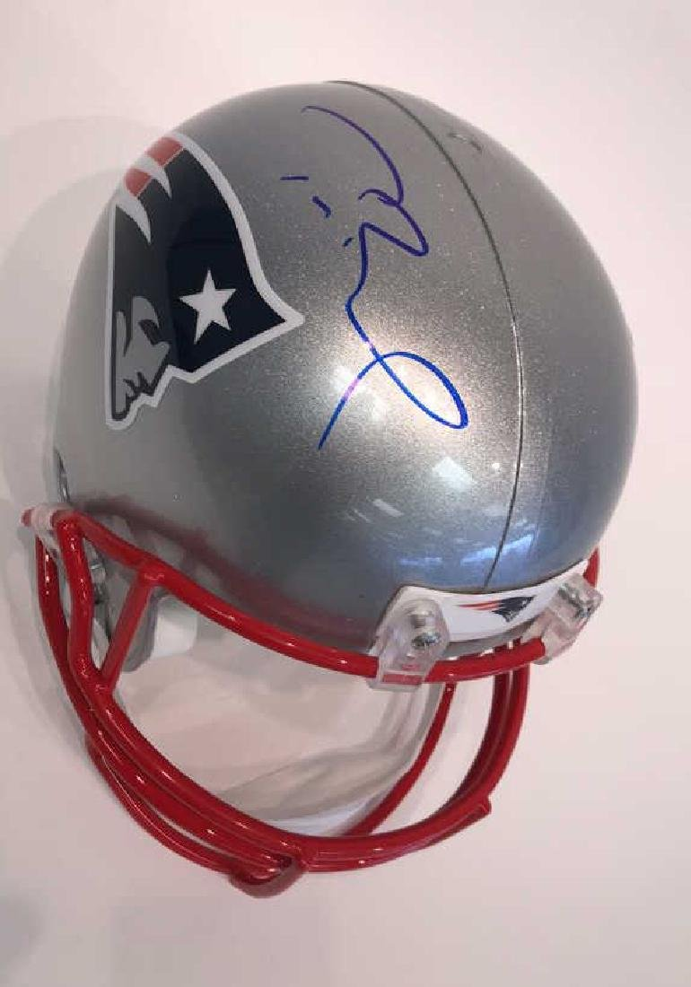 SIGNED TOM BRADY FOOTBALL HELMET - 3