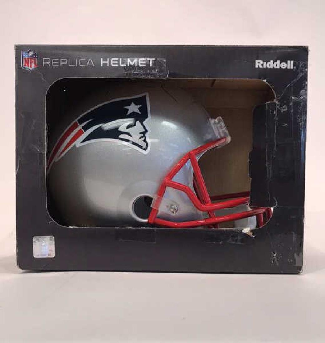 SIGNED TOM BRADY FOOTBALL HELMET - 9