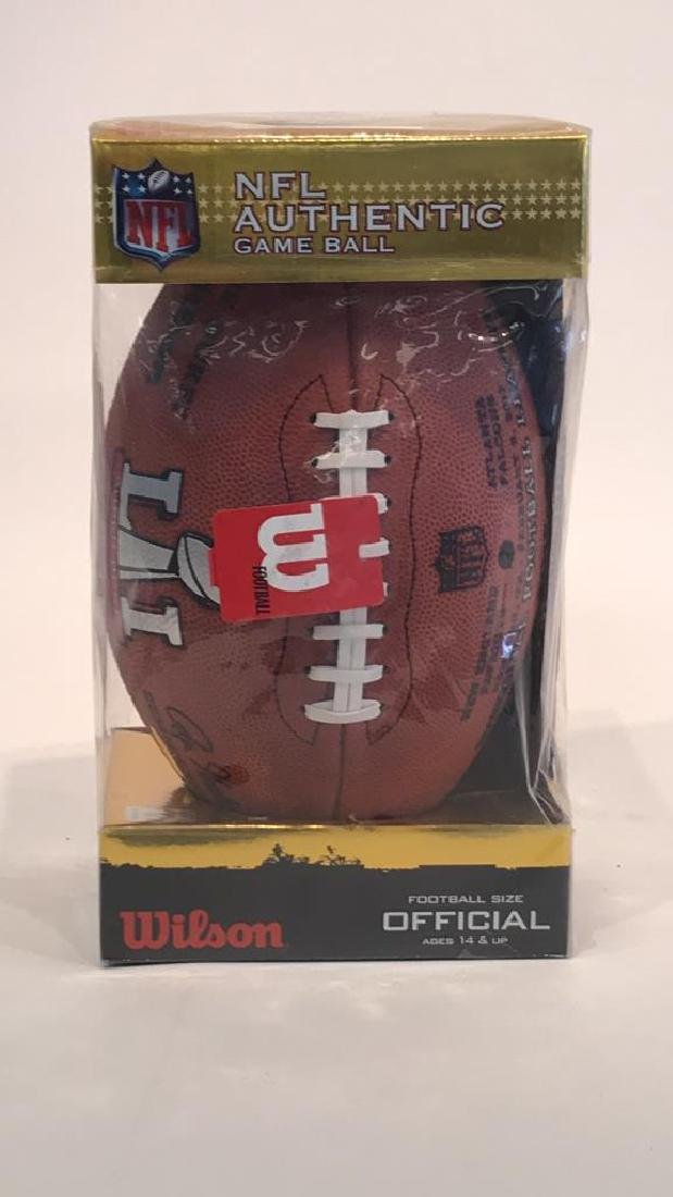 NFL AUTHENTIC GAME BALL SIGNED BY TOM BRADY