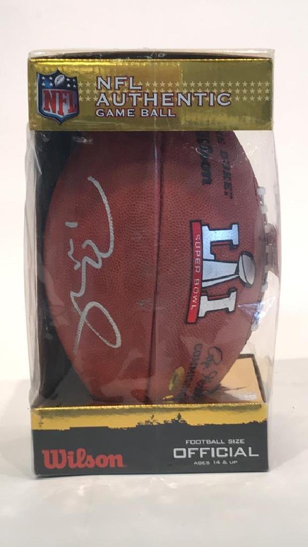 NFL AUTHENTIC GAME BALL SIGNED BY TOM BRADY - 2