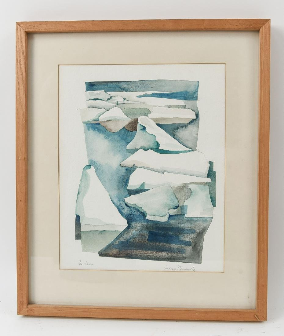 AUDREY NAMAWITZ MODERN ABSTRACT WATERCOLOR