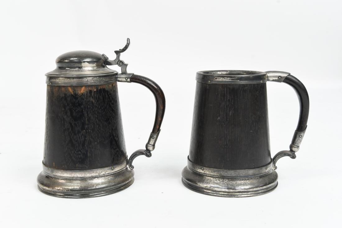 (2) ARTS AND CRAFTS TANKARDS
