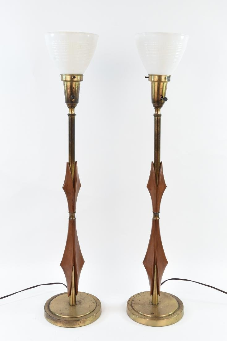 PAIR OF MID-CENTURY REMBRANDT LAMPS