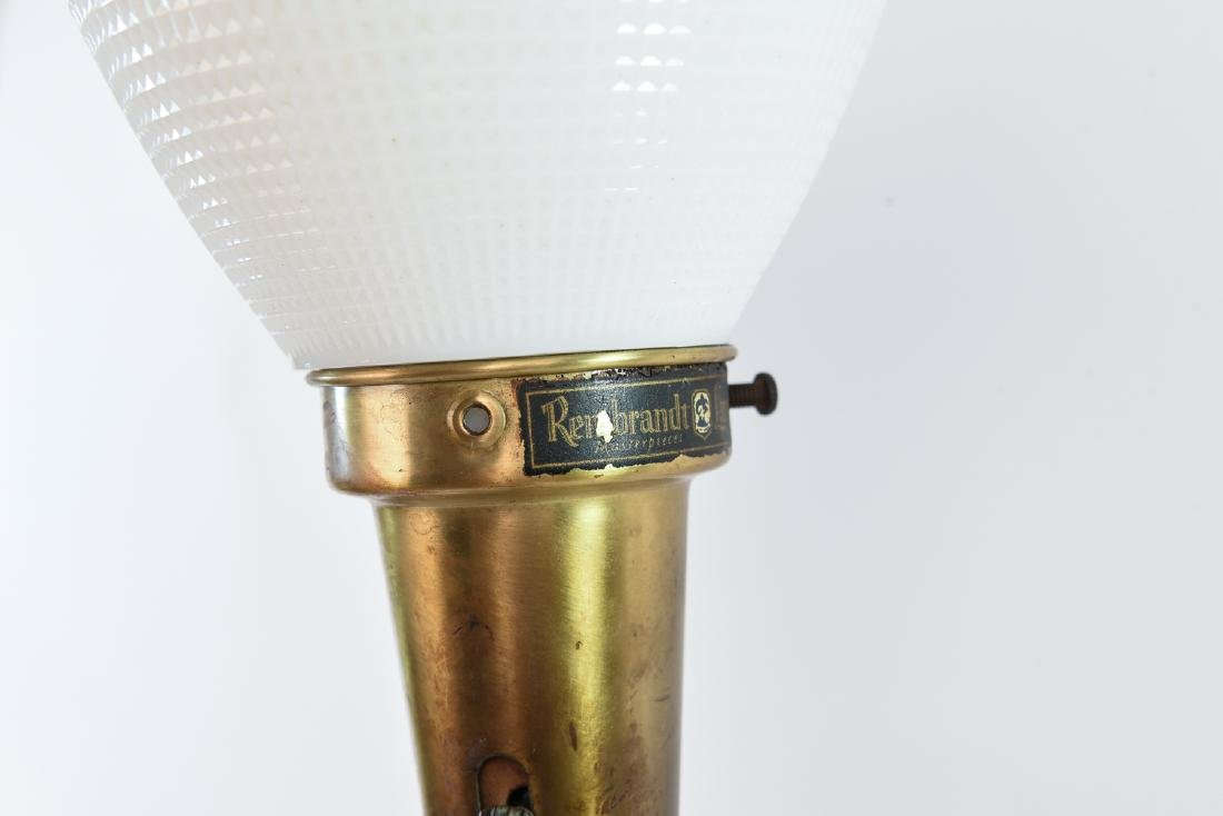 PAIR OF MID-CENTURY REMBRANDT LAMPS - 9