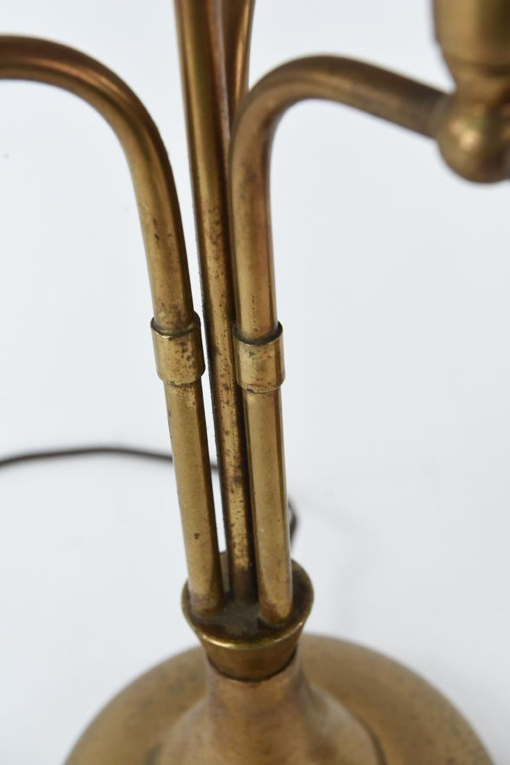 PAIR OF BRASS CANDELABRA FORM TABLE LAMPS - 10