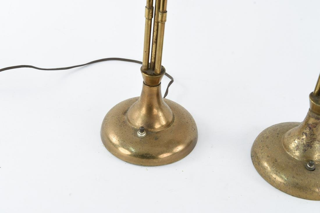 PAIR OF BRASS CANDELABRA FORM TABLE LAMPS - 5
