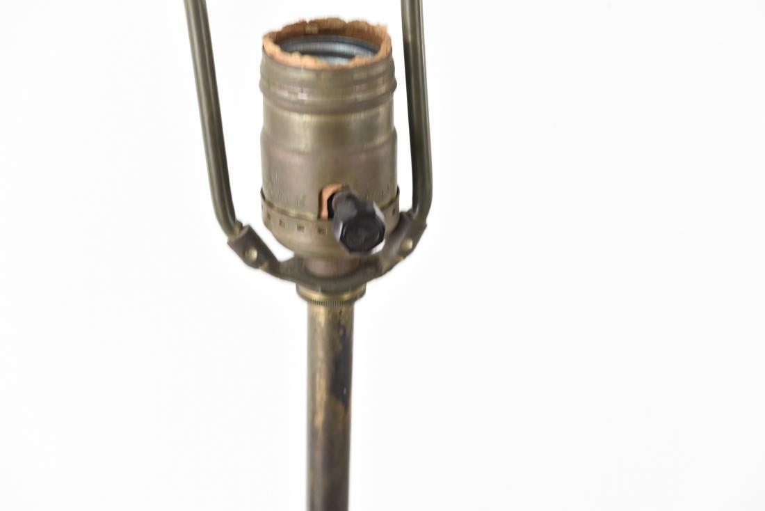 CREST CO. GILT BRONZE AMERICAN FLOOR LAMP - 10