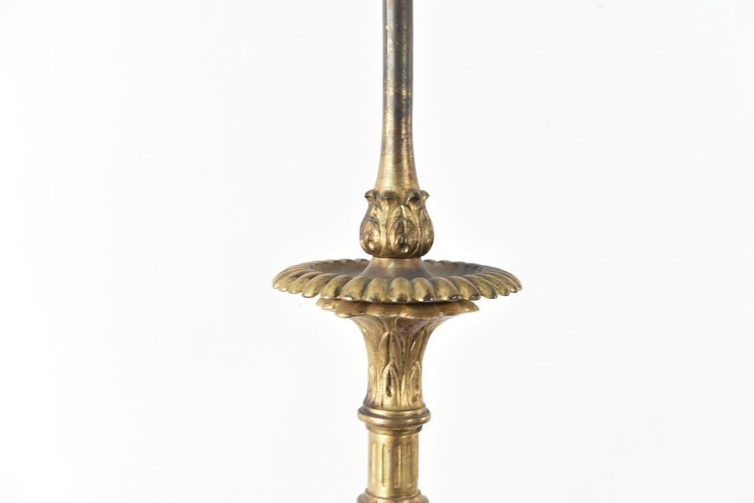 CREST CO. GILT BRONZE AMERICAN FLOOR LAMP - 2