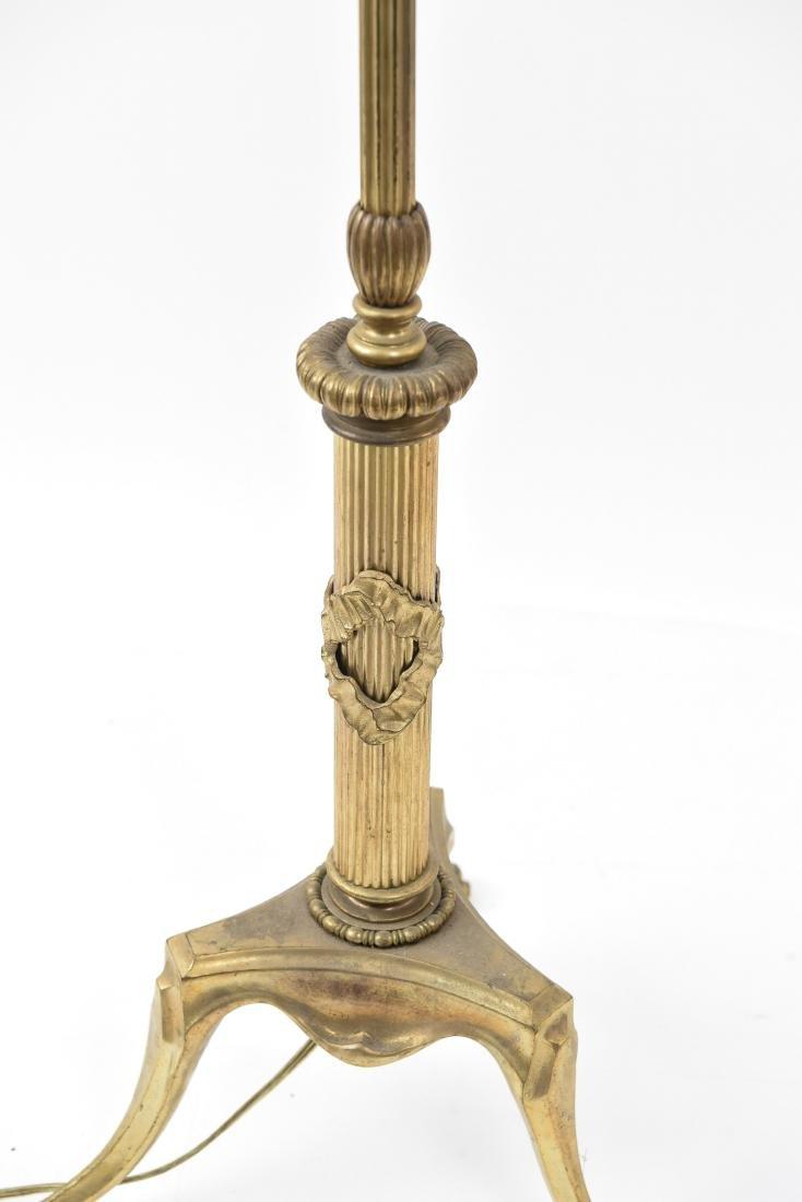CREST CO. GILT BRONZE AMERICAN FLOOR LAMP - 6
