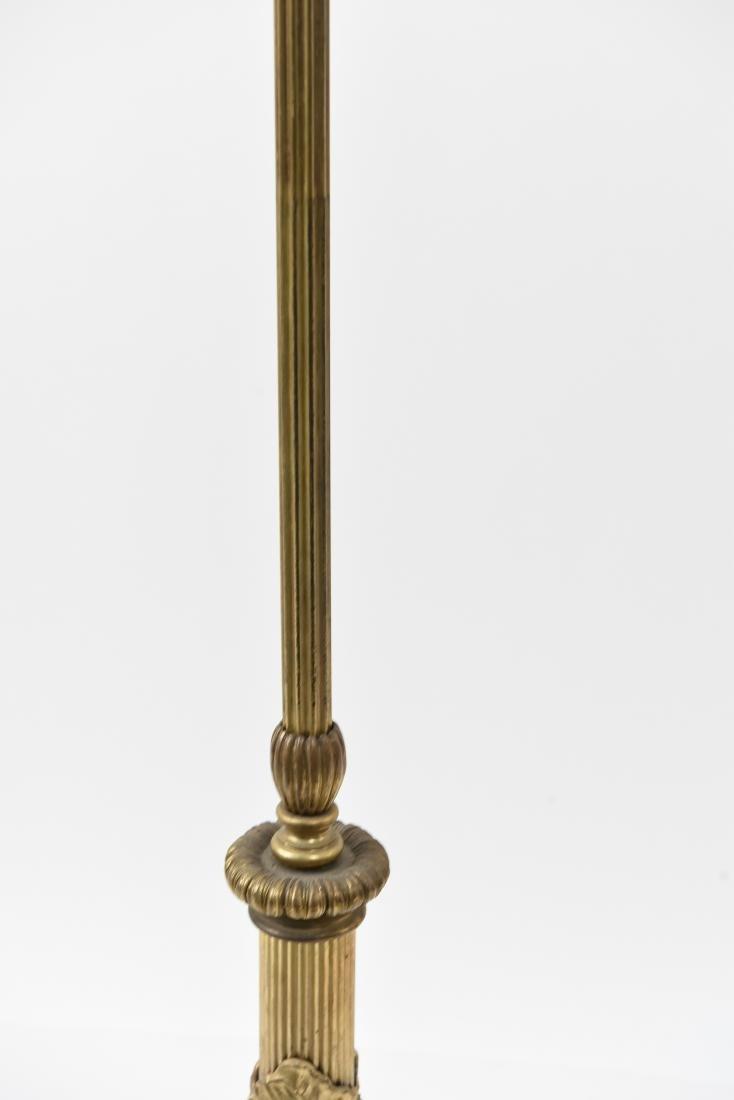 CREST CO. GILT BRONZE AMERICAN FLOOR LAMP - 7