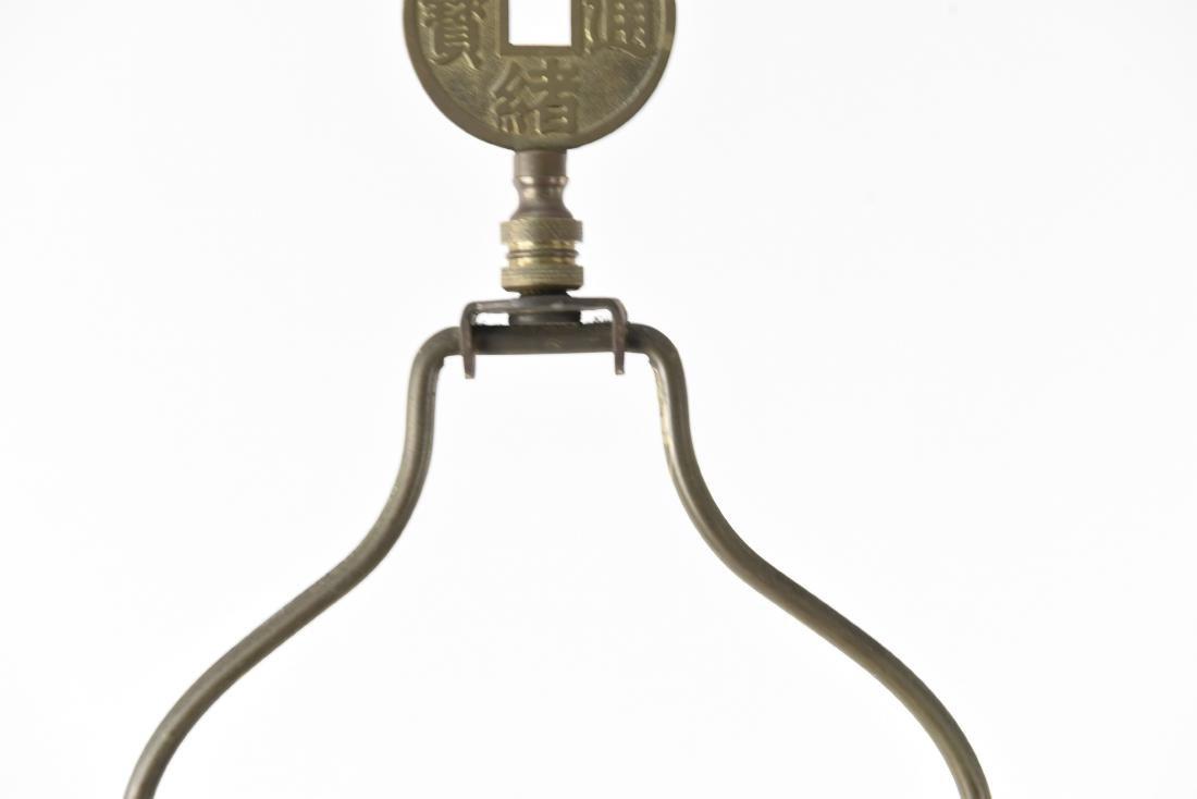 CREST CO. GILT BRONZE AMERICAN FLOOR LAMP - 8