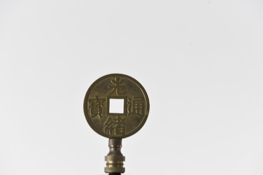 CREST CO. GILT BRONZE AMERICAN FLOOR LAMP - 9