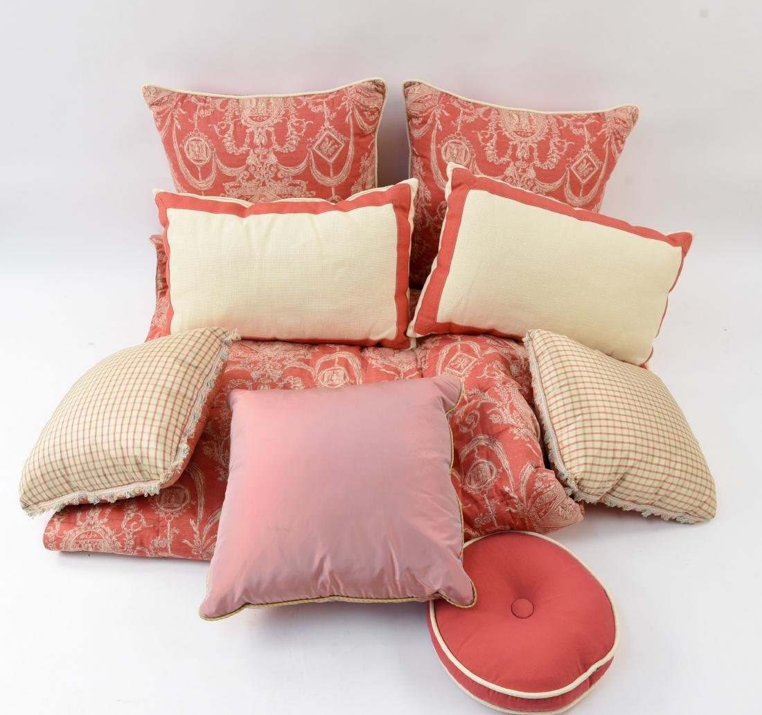 PILLOW AND BEDDING GROUPING