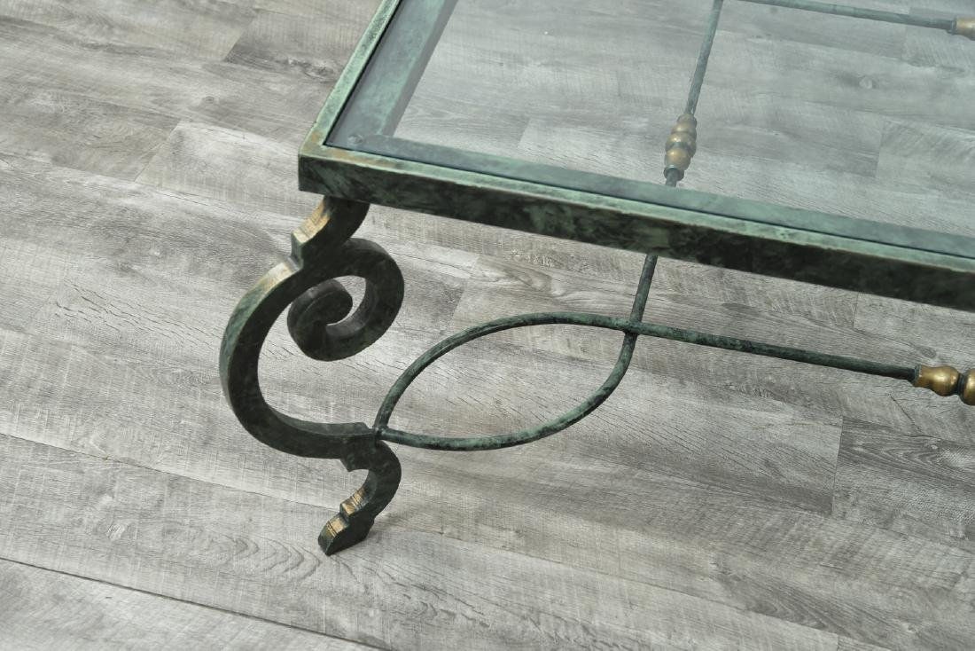 IRON AND GLASS COFFEE TABLE - 2