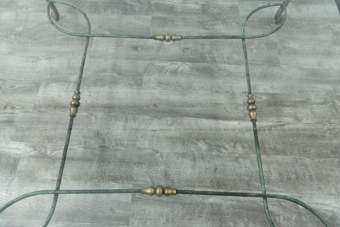 IRON AND GLASS COFFEE TABLE - 6